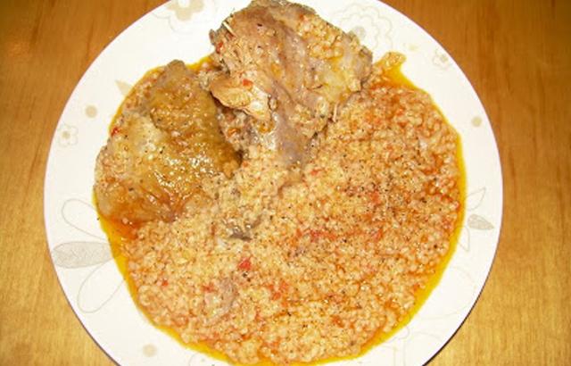 Κοτόπουλο με στάρι (χόντρο)