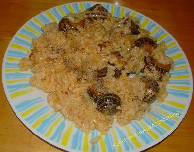 Χοχλιοί με χόντρο (στάρι) ή ρύζι