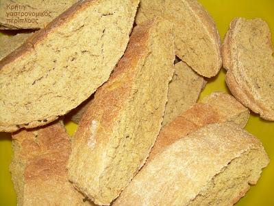 Εφτάζυμο (φτάζυμο) ψωμί και παξιμάδι