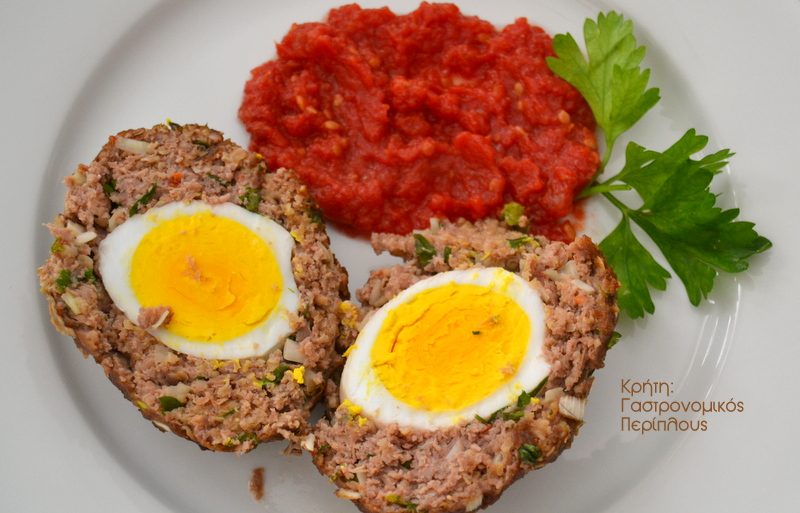 Αυγά τυλιγμένα με κιμά (μικρά ατομικά ρολά με κιμά)