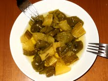 Σαλάτα με ψητή κίτρινη κολοκύθα, μανιτάρια και άλλα