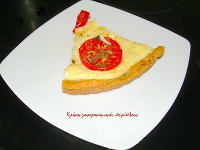 Τάρτα ξινομυζήθρας με ντομάτα (φρέσκια ή λιαστή)
