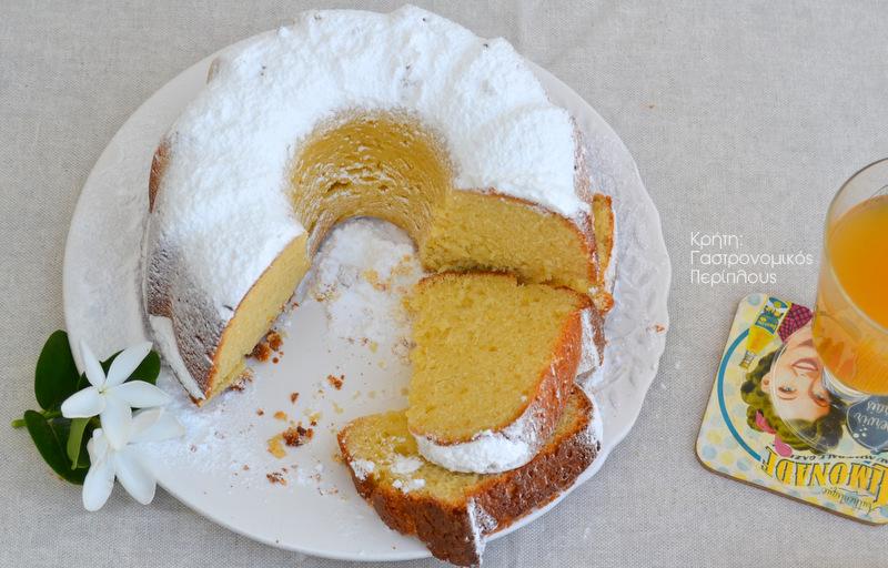 Απλό κέικ λεμονιού με ελαιόλαδο (VIDEO)