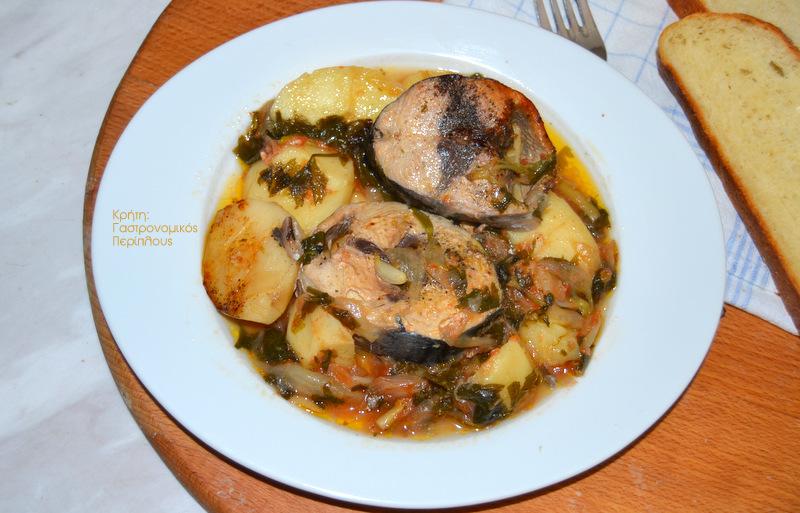 Παλαμίδα (ή άλλα ψάρια) στο φούρνο