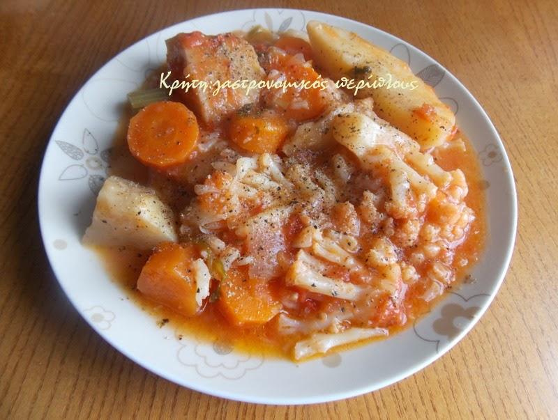 Κουνουπίδι γιαχνί με σάλτσα ντελμπιέ (αλευρολέμονο)