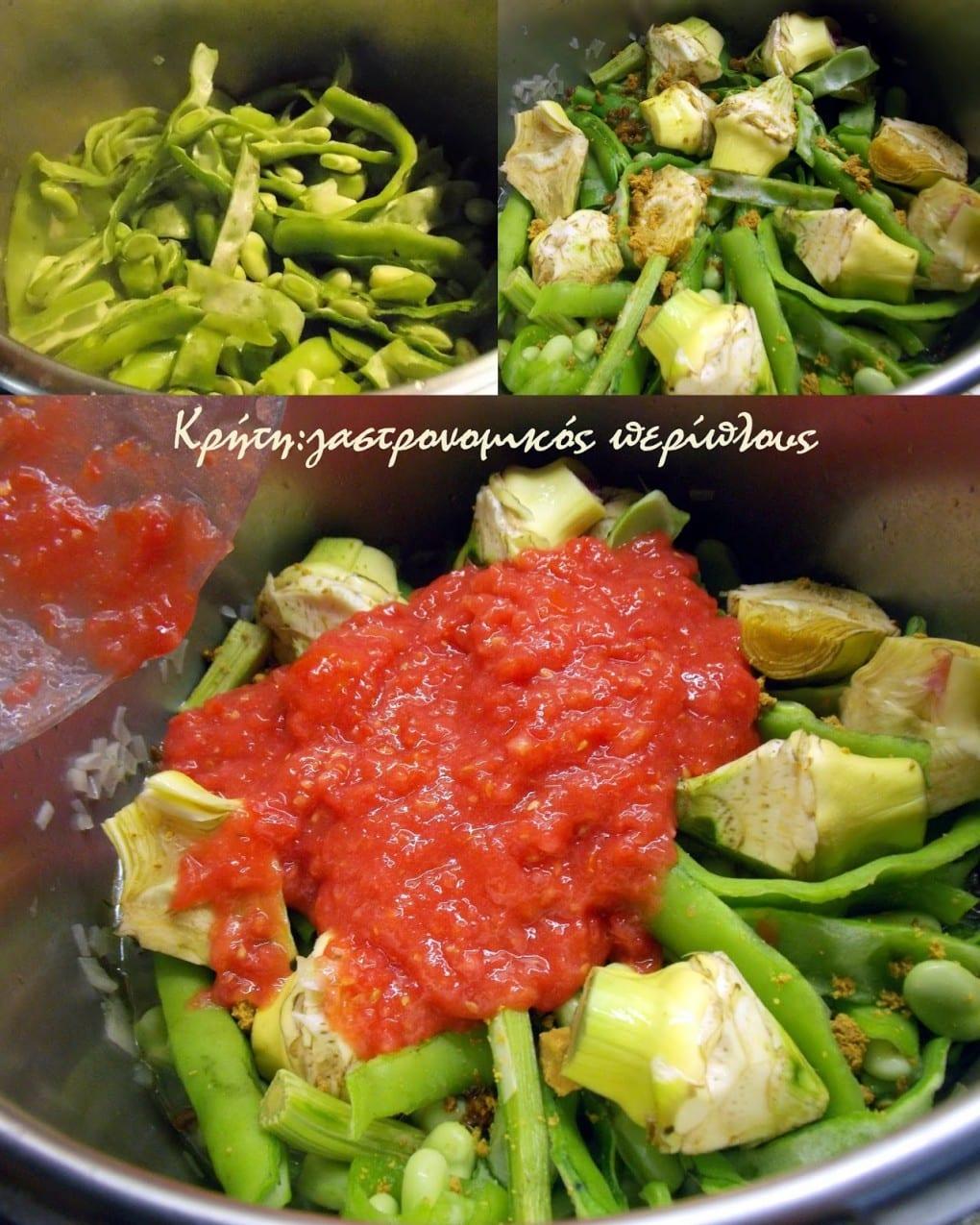 Αγκιναροκούκια με ντομάτα
