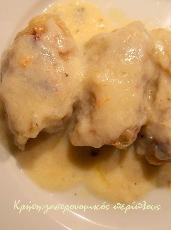 Λαχανοντολμάδες με κιμά στο φούρνο (με κρέμα αυγολέμονο)