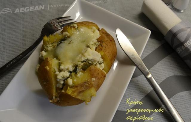 Πατάτες οφτές, γεμιστές με τυριά
