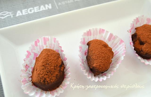 Μεθυσμένα σοκολατάκια με δαμάσκηνα