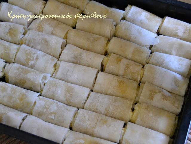 Μπουρεκάκια – μπουκιές με ξινομυζήθρα
