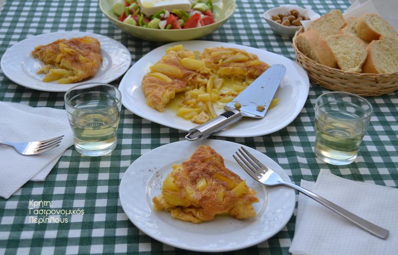 Χωριάτικη ομελέτα με πατάτες σκέτη ή με ξινομυζήθρα (ή φέτα) (VIDEO)