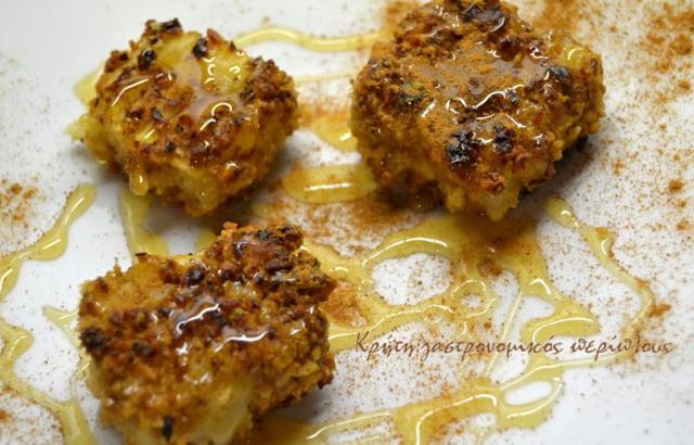 Κρητική γραβιέρα με μέλι και καρύδια