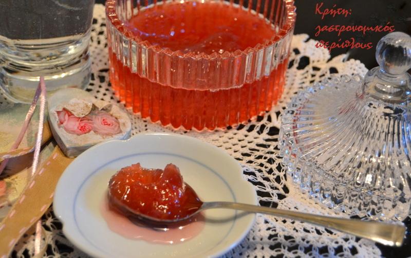 Ροδοζάχαρη (τριαντάφυλλο γλυκό του κουταλιού)