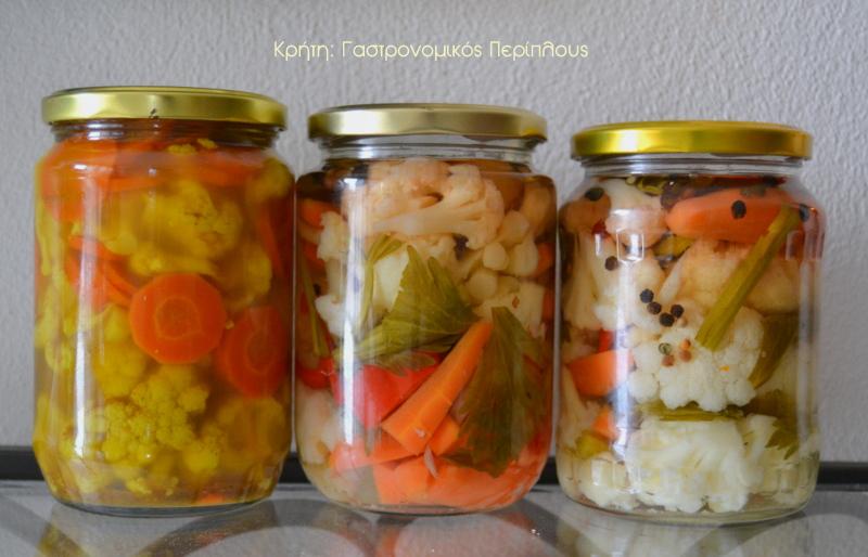 Κλασικό τουρσί κουνουπίδι – καρότο – πιπεριά