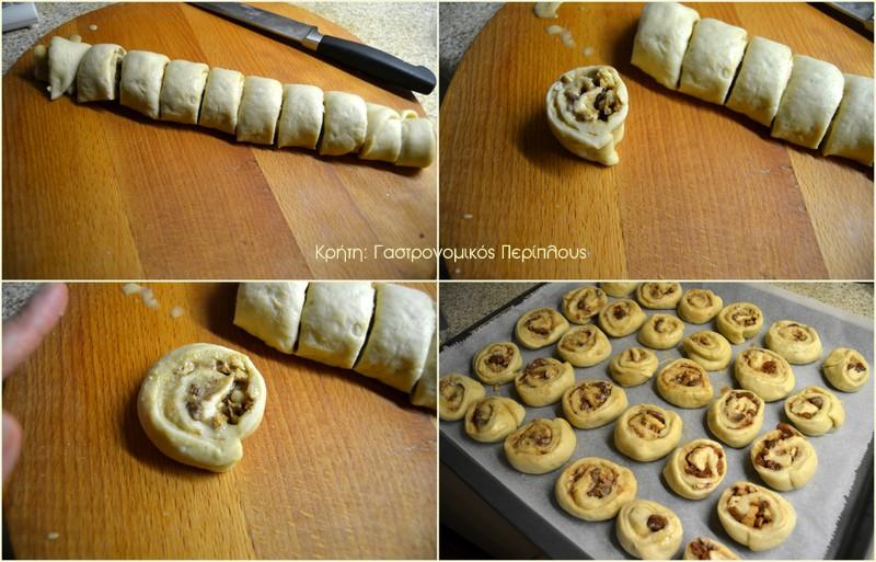 Ταχινοπιτάκια με καρύδια και σταφίδες