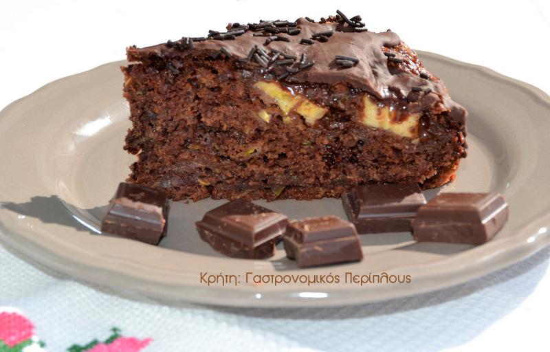 Σοκολατένιο κέικ κολοκυθιού (και σε παραλλαγή σοκολατόπιτας)
