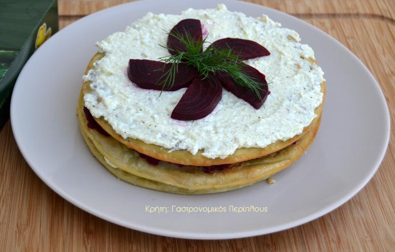 Αλμυρή «τούρτα» με χορτόπιτες (VIDEO)