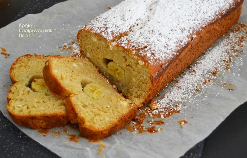 Κέικ μπανάνας με γλυκιά μυζήθρα (νωπό ανθότυρο)