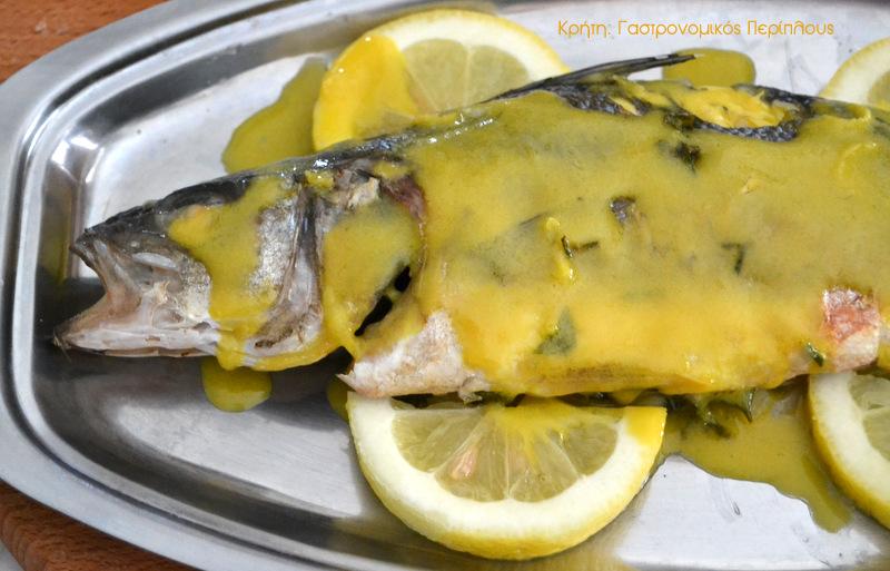 Ψάρι ψητό με λαδολέμονο μουστάρδας