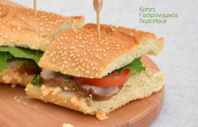 σάντουιτς απάκι Κρήτης μενού 41 κολάζ συνταγές cretangastronomy.gr