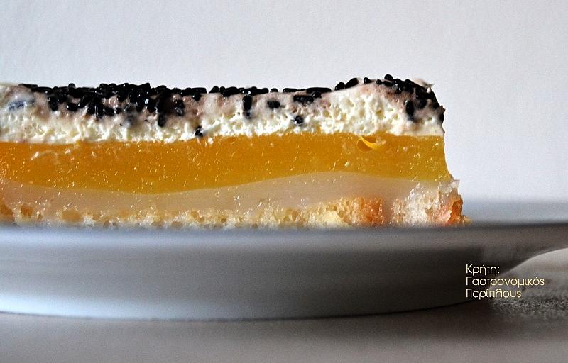 Γλυκό ψυγείου με κρέμες αμυγδάλου και πορτοκαλιού