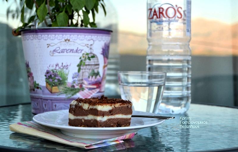 Γλυκό ψυγείου με δύο σοκολάτες και άνθος αραβοσίτου (και σε νηστίσιμη παραλλαγή)
