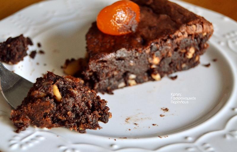 Σοκολατόπιτα με φουντούκια ή φουντουκόπιτα με σοκολάτα; Χωρίς αλεύρι!