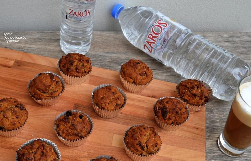 Muffins με ελαιόλαδο και σταφίδες χωρίς ζάχαρη!