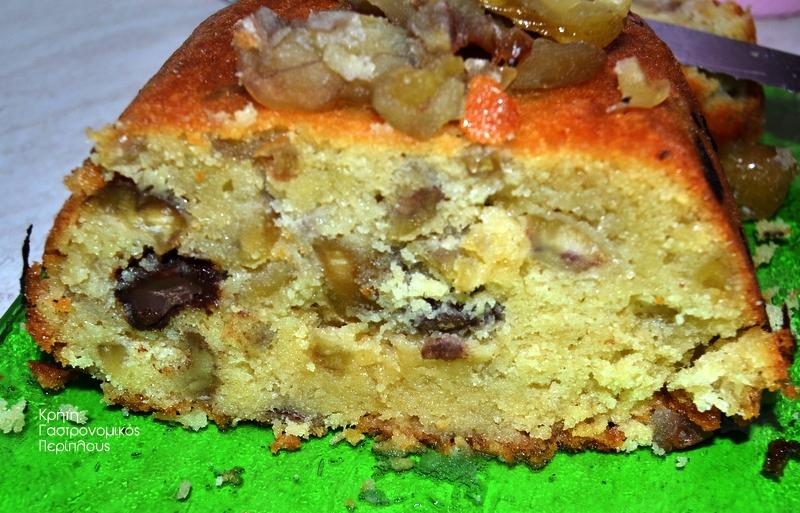 Σιροπιαστό κέικ με κάστανα