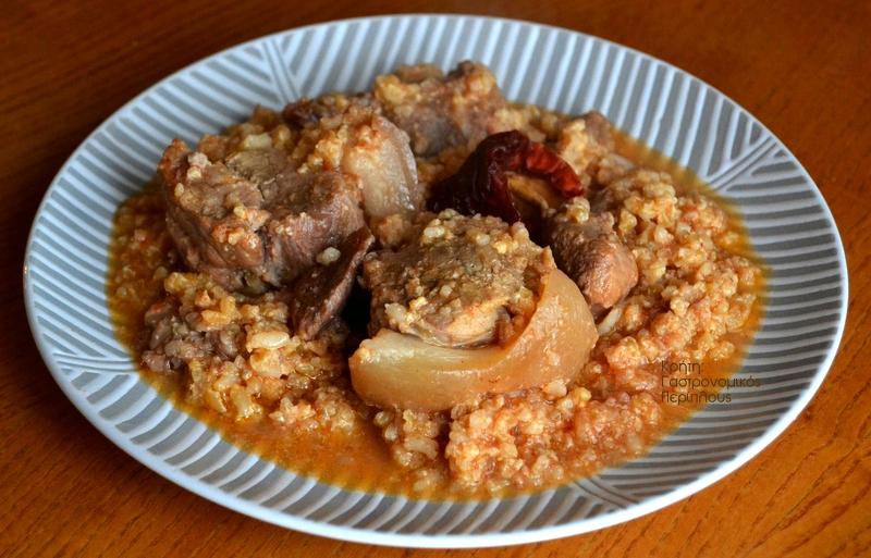 Χοιρινό μαγειρευτό με ξινόχοντρο
