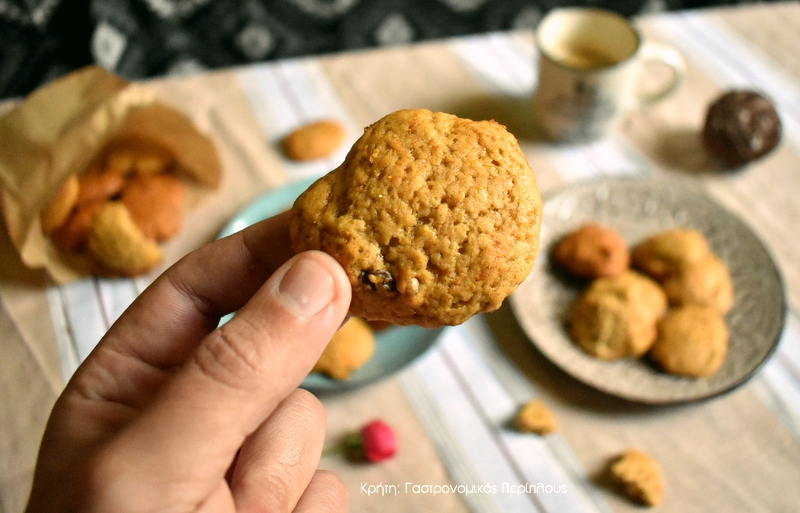 Αφράτα μπισκότα με κίτρινη κολοκύθα